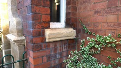 In situ lime based repair to sandstone mouldings using St Astier Lithomex